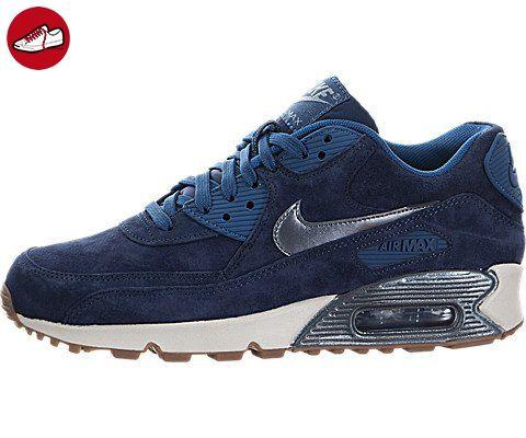 Nike Damen W Air Max 90 Prm Suede Turnschuhe, Azul Marino (Mid Nvy /