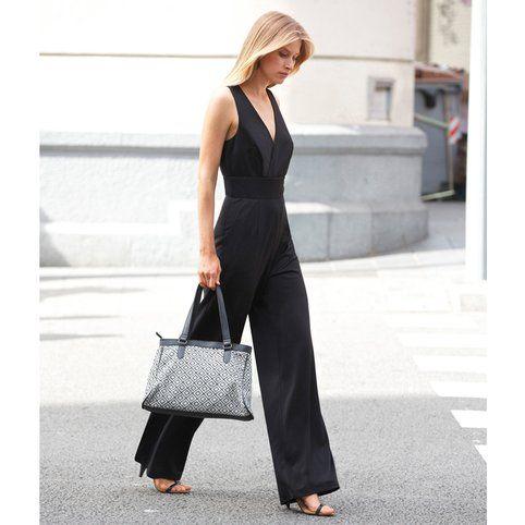 check-out a040e 6c931 Combipantalon stretch femme 3 SUISSES COLLECTION - Noir- Vue ...
