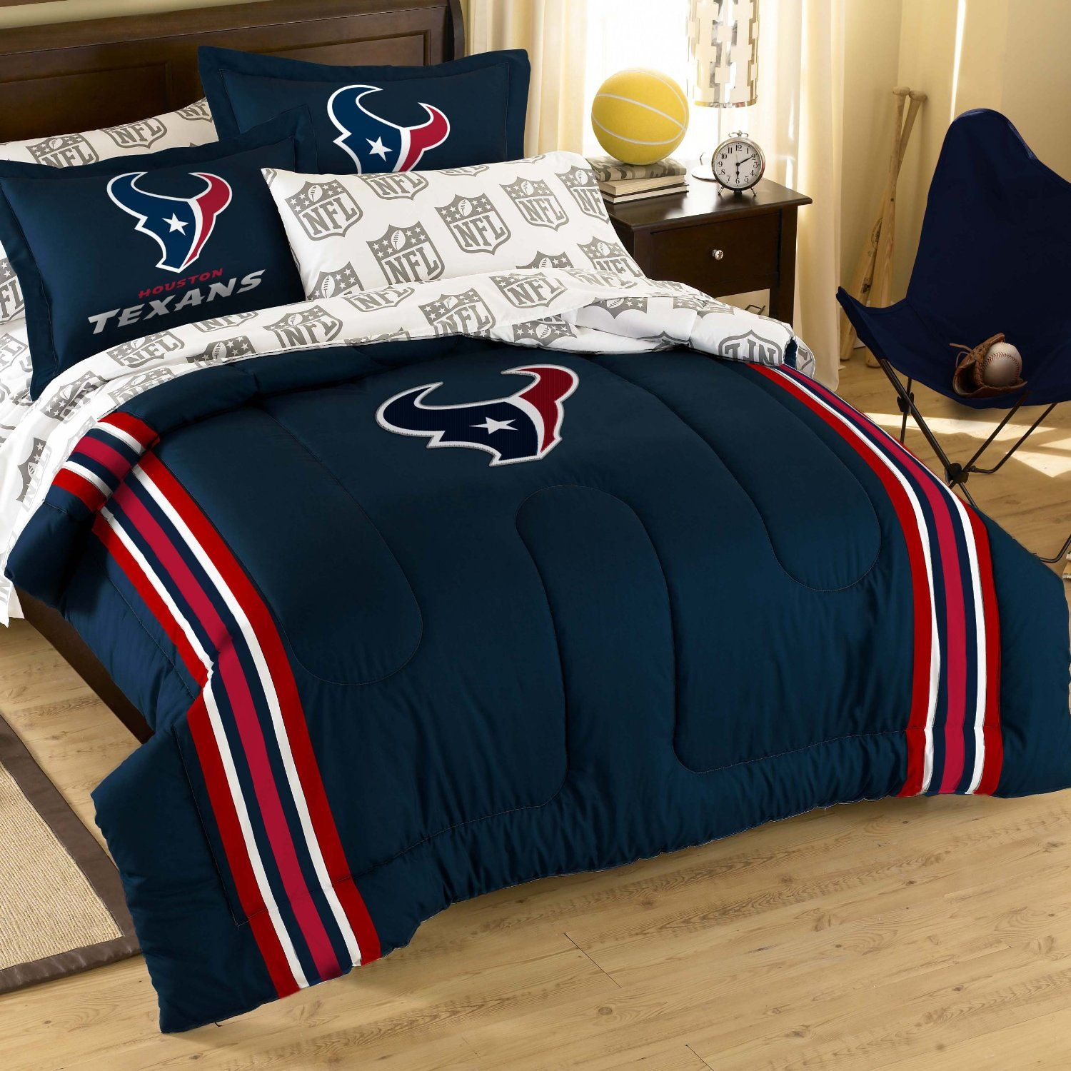 nfl houston texans bedding set. idea, i could do iron-ons for the
