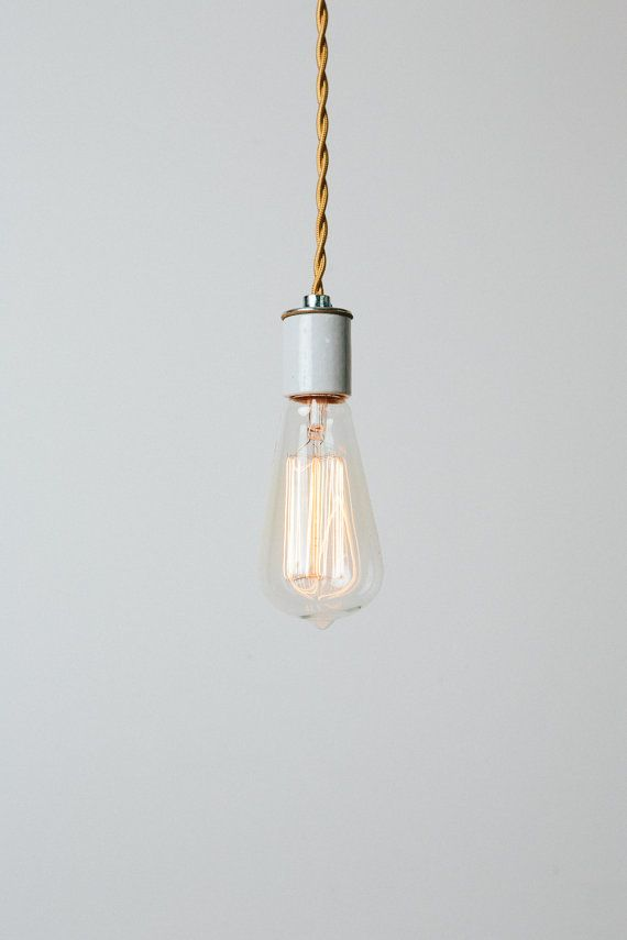 Bare Bulb Pendant Light With Handmade Copper Ceiling Canopy Maxwell Simple Modern Edison Lamp Minimalist Hanging Fixture