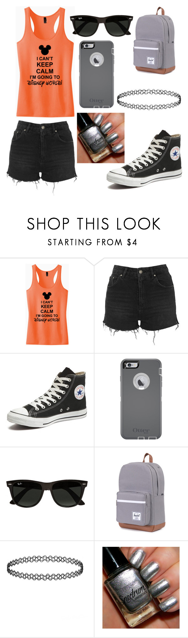 """""""Disney world"""" by sopennydog on Polyvore featuring Topshop, Converse, OtterBox, Ray-Ban, women's clothing, women, female, woman, misses and juniors"""