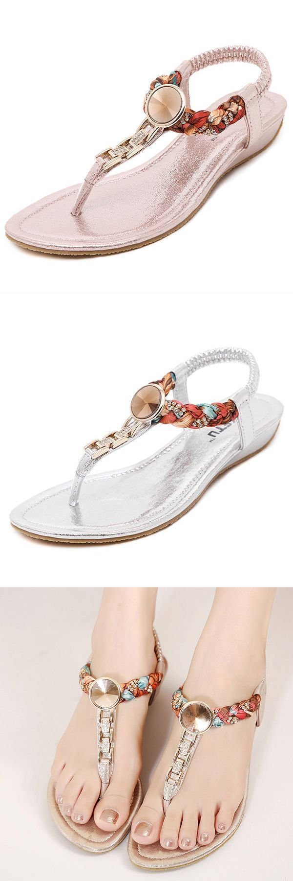 9f510ee0e75f Us size 5-10 women summer flat soft casual beach bohemian comfortable  fashion sandals shoes sandals caribbean  clarks  sandals  merrell  sandals   q  form ...