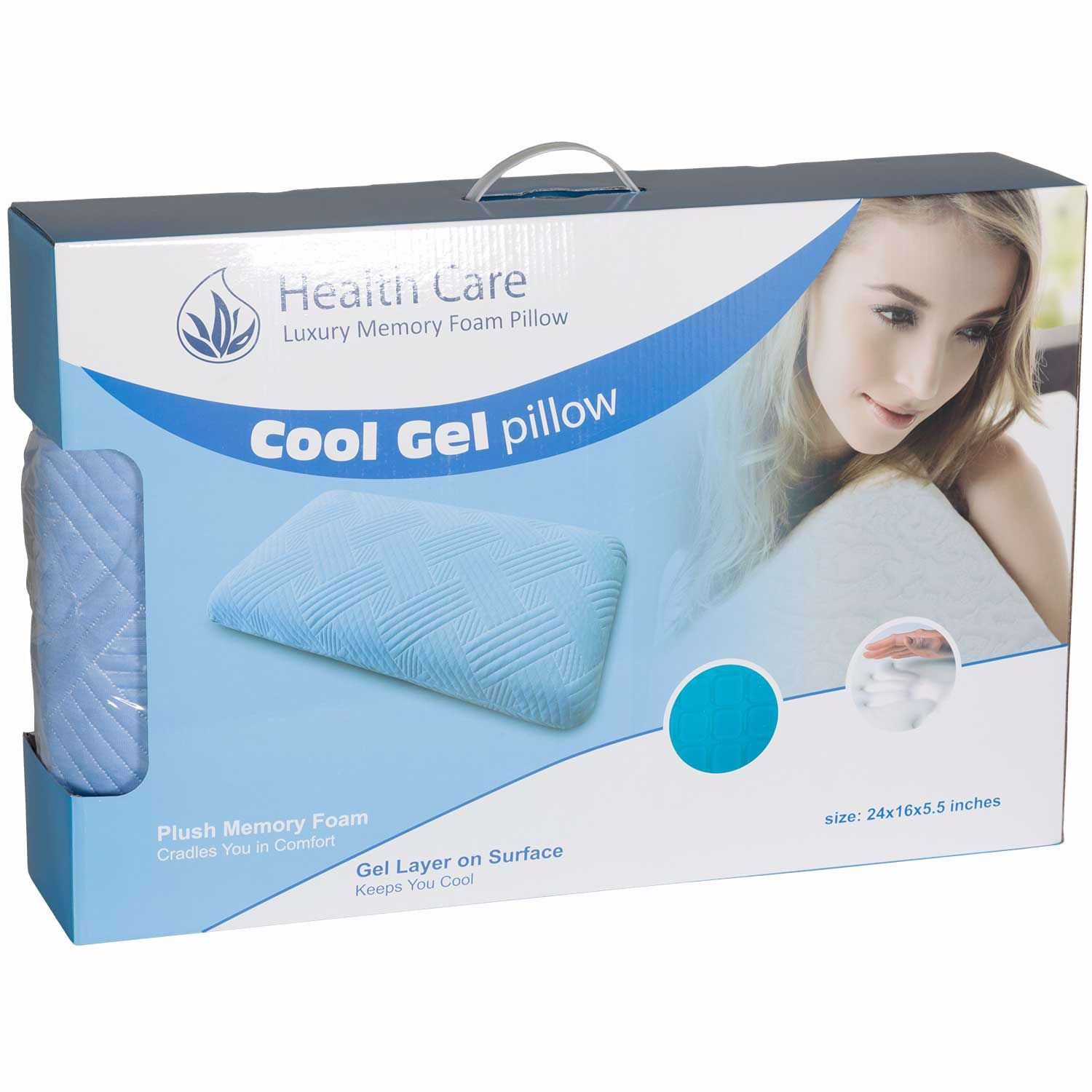 King Cool Square Gel Pillow Gel Pillow Foam Pillows Pillows