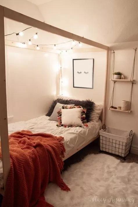 Best 85 Diy Cozy Small Dorm Room Decorating Ideas On Budget 400 x 300