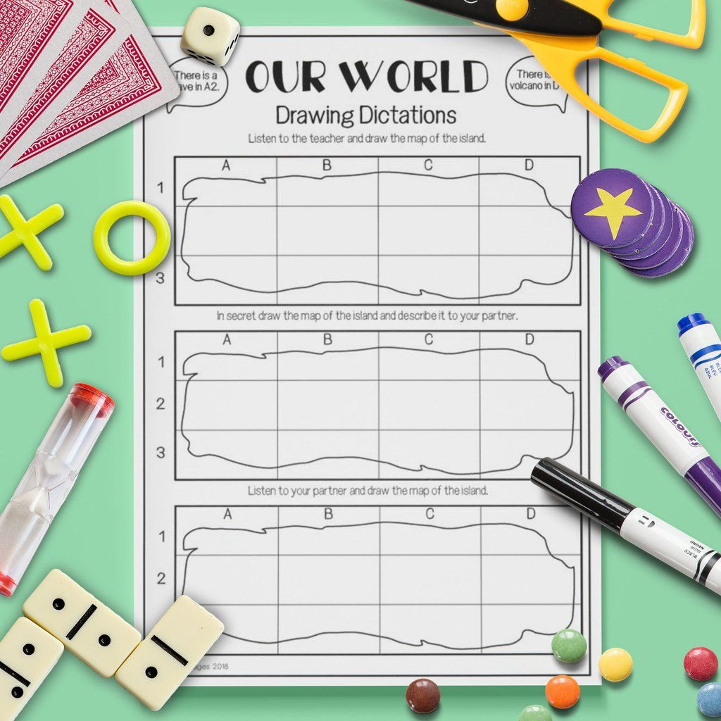 Our World Drawing Dictation Game
