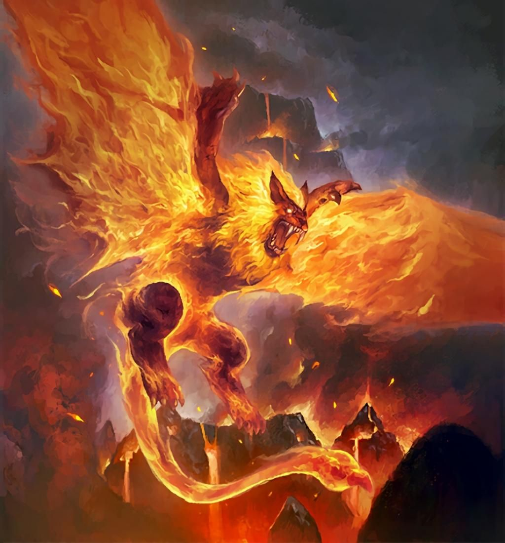 Druid of the Flame: Firecat Form by Ben Zhang | cards | Pinterest ...