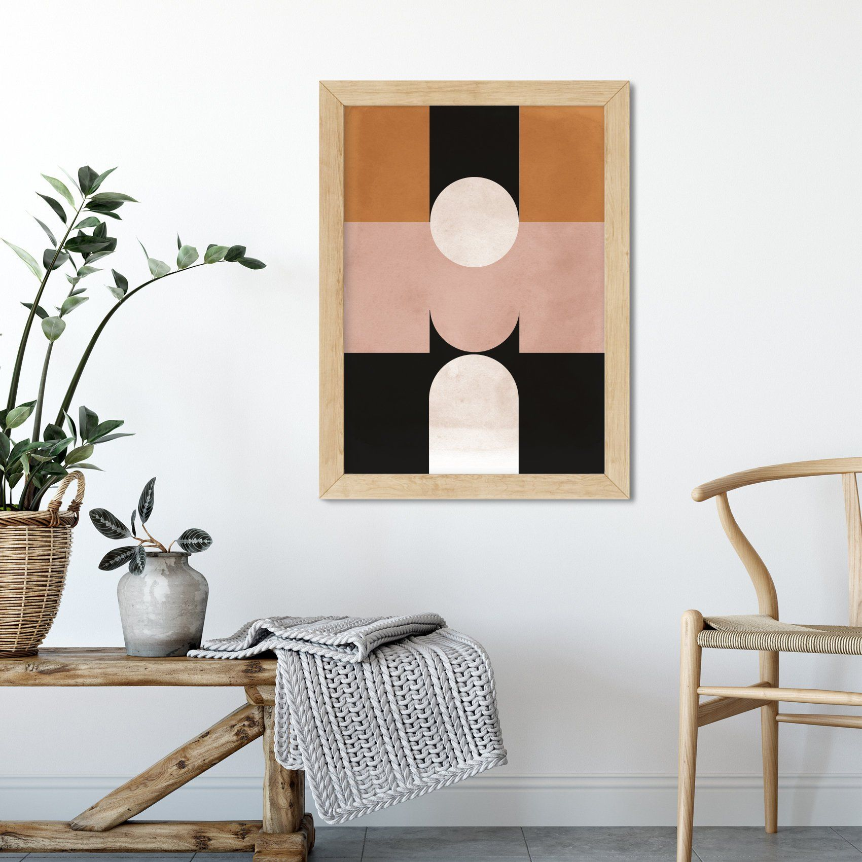 minimal abstract print hygge decor 2019 abstract art on hygge wall decor id=60807