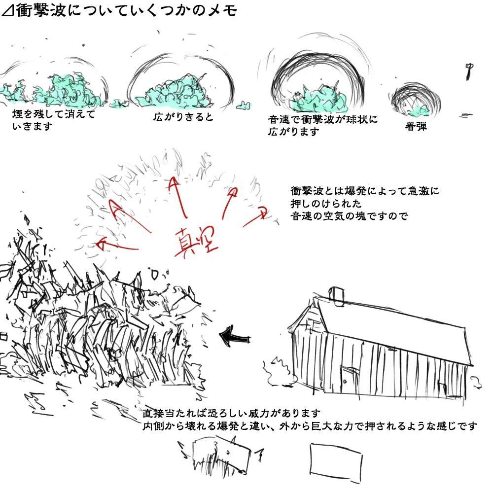 理屈に基づいた爆発の描き方まとめ [45]