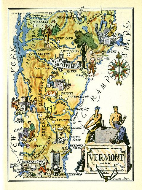 Vermont map in 2019 | Travel my fav places to go to and wish ... on map or, drawing of my, timeline of my, time of my,