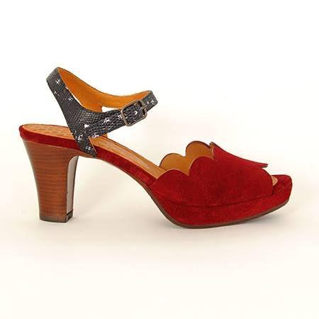 Sandalias Chie Mihara tacon 7 cm y plataforma interior color teja horma  ancha para pies delicados Modelo UNDIA burdeos - Lucio Herrezuelo