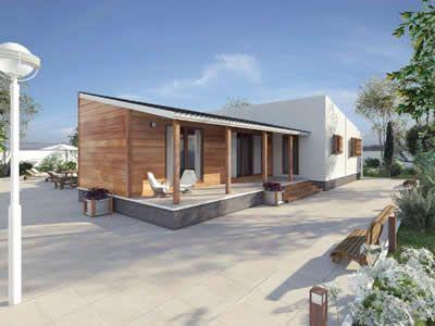 Novo habitat casas de madeira casa f rias pinterest - Feria de casas prefabricadas ...