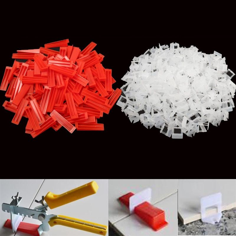 Fg 2 Tile Leveling System 400pcs 1 5mm Clips And 100pcs Red Wedges And 1pcs Pliers Tile Leveling System Construction Tools Tile Accessories