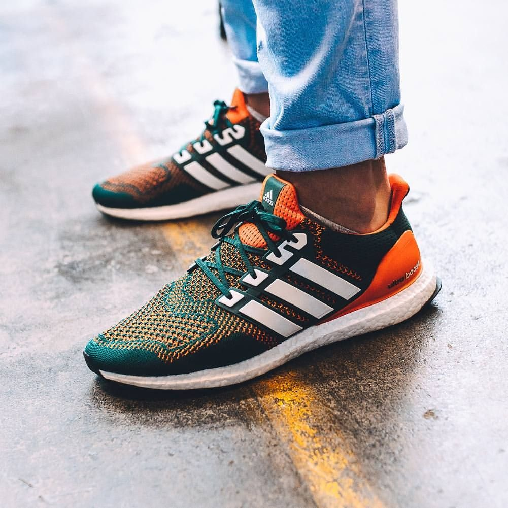 Touch Down! 'Miami Hurricanes PE' Ultra Boosts spotted on foot at ...