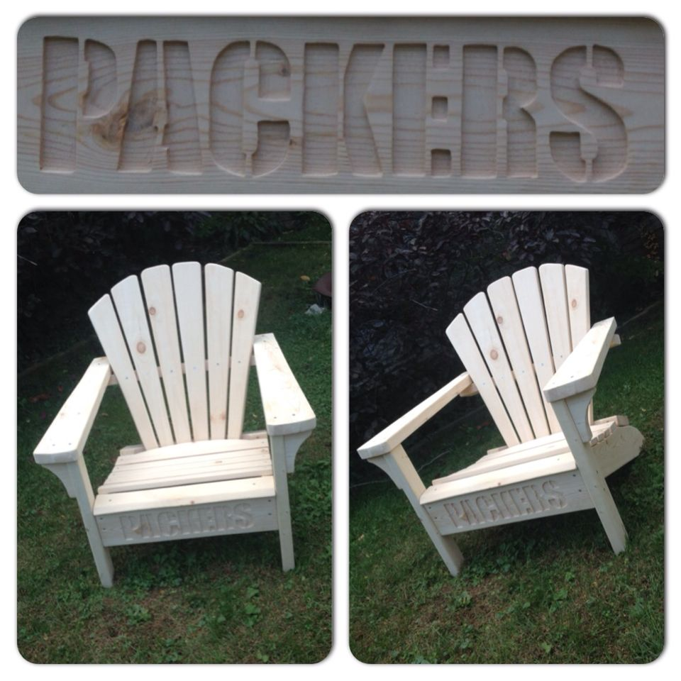 Adirondack Muskoka Chairs Green Bay Packers Nfl Football Green Chair Muskoka Chair Outdoor Chairs
