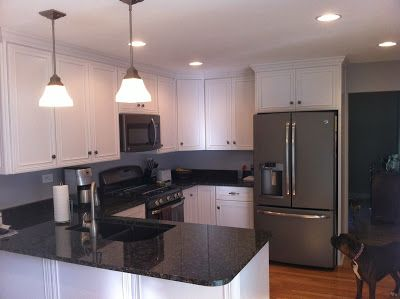 The Kitchen Remodel Is Complete Slate Appliances Kitchen Slate