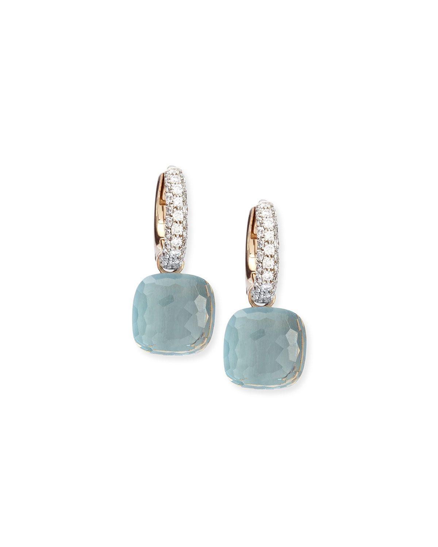 Nudo Blue Topaz Diamond Drop Earrings