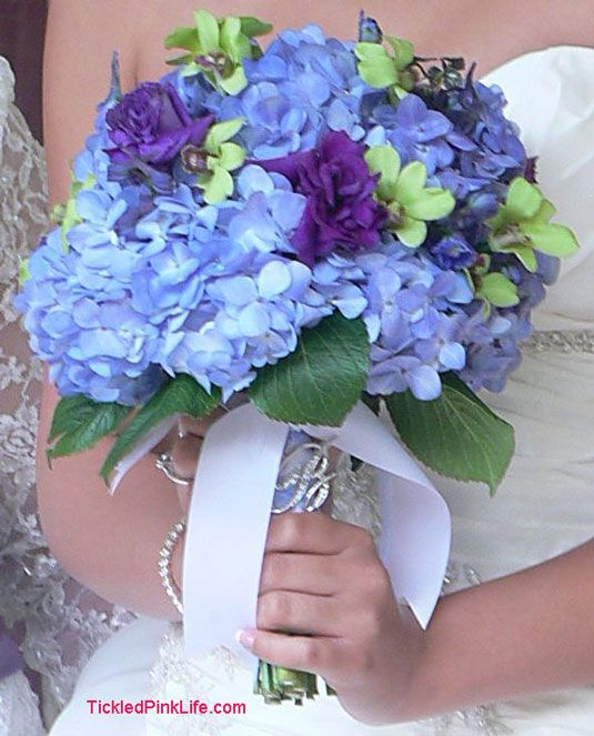 Blue Hydrangea Wedding Flowers: Purple Hydrangea Bouquets For Weddings