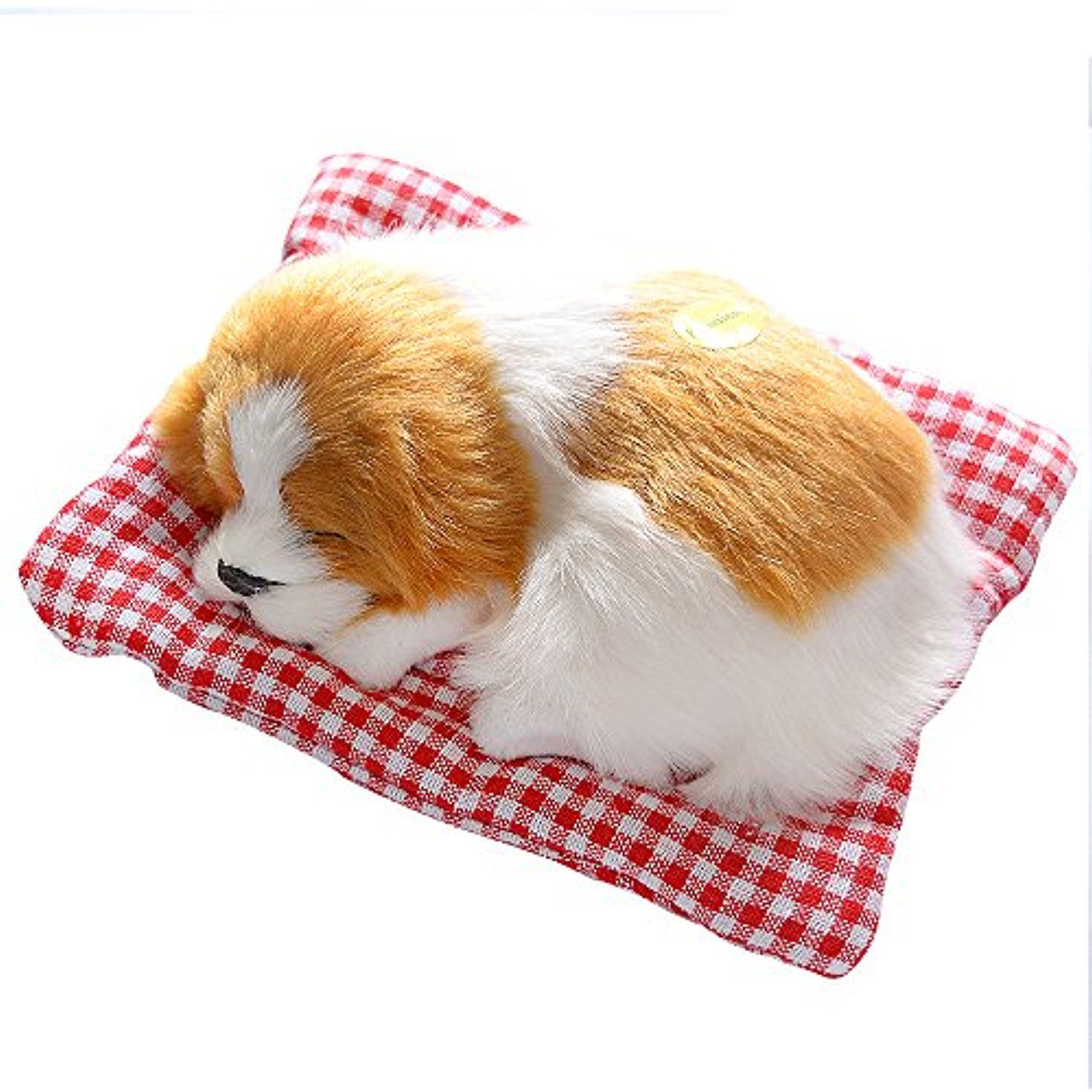 Toonol Vivid Simulation Plush Sleeping Dogs Doll Toy With Sound