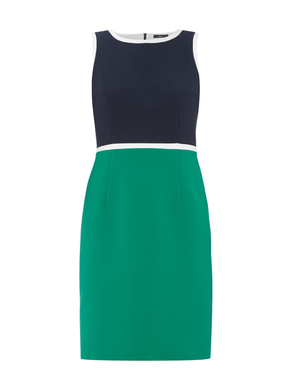 JAKE*S COLLECTION Two-Tone-Kleid mit Kontrastabschlüssen in Grün
