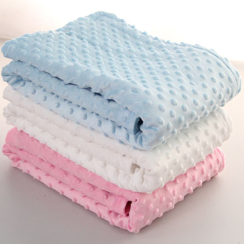 Fleece Deken Baby.76x102 Cm Punt Fleece Baby Sheet Deken Pasgeboren Baby Inbakeren