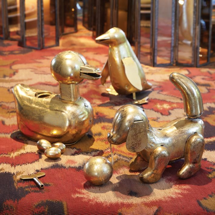 Gold Leaf Toy Asst 3 Metal/Gold Leaf © Twos Company