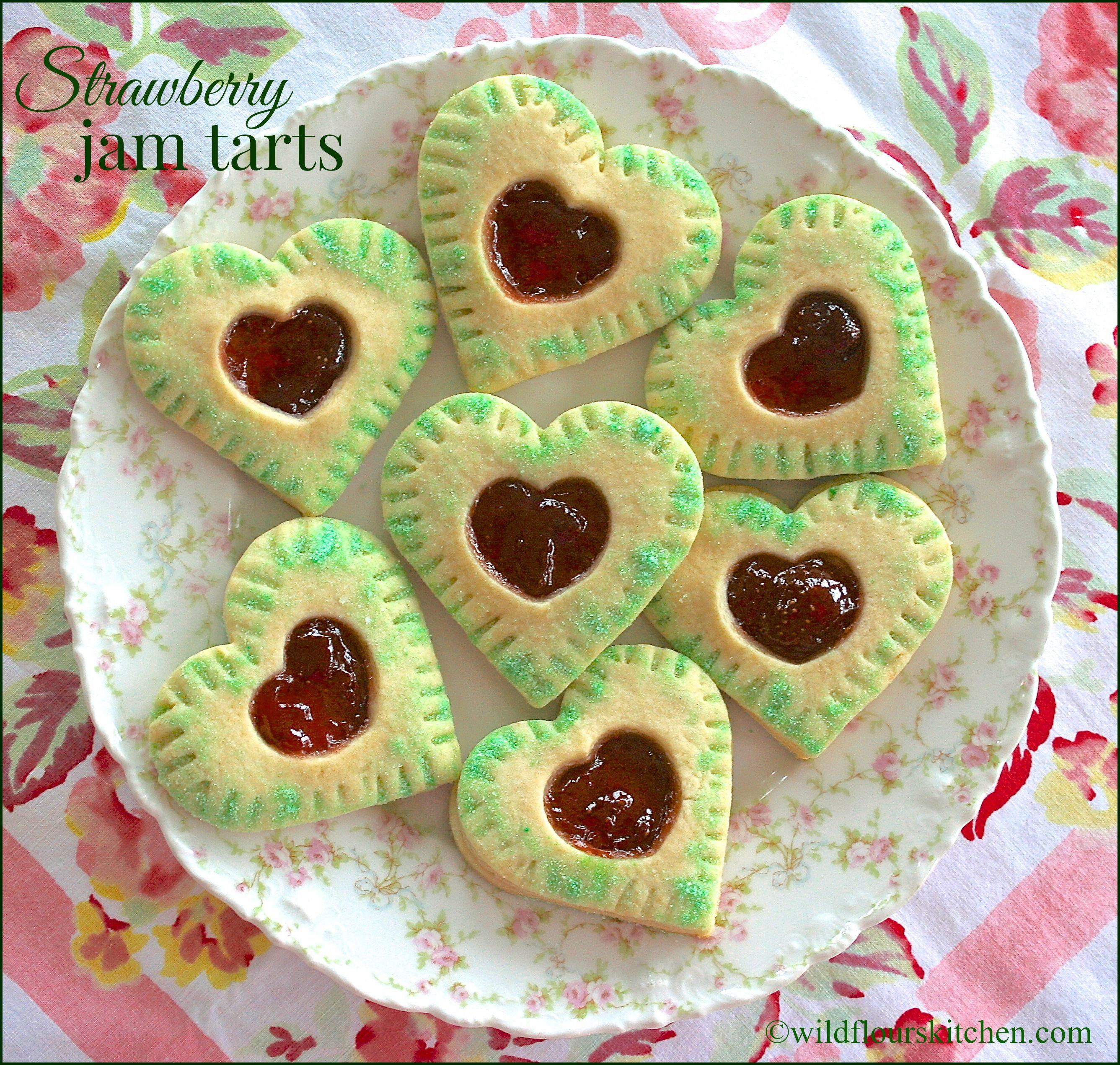 strawberry jam tarts | Wildflour's Cottage Kitchen #foodforlove
