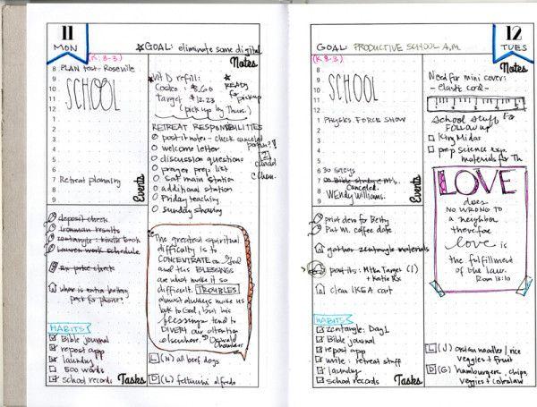 Dot Calendar Bullet Journal : Bullet journal friendly planner layout dot graph
