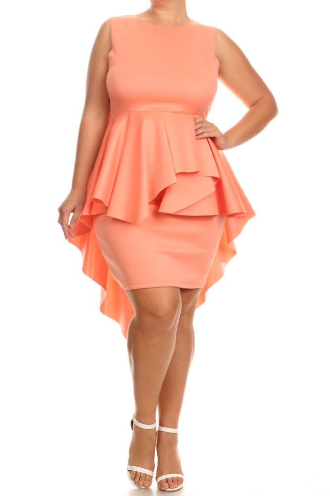 962f59dc52 Plus Size For Love Layered Peplum Dress – PLUSSIZEFIX