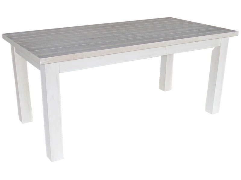 table de 180 Table 180 cm avec allonge SARAYA en pin massif blanchi - Vente de Table de  cuisine - Conforama