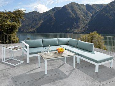Ensemble de jardin - Canapé de terrasse en alluminium - Mobilier de ...