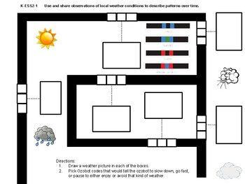 ozobot weather maze for kindergarten 1st grade ozobot lesson ideas pinterest kindergarten. Black Bedroom Furniture Sets. Home Design Ideas