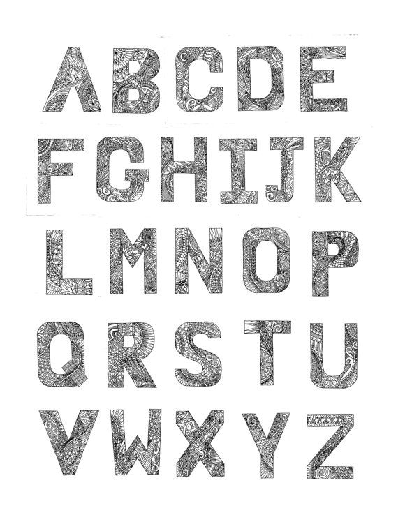 Alphabet Coloring pages (PDF) - 26 printable images to print and ...