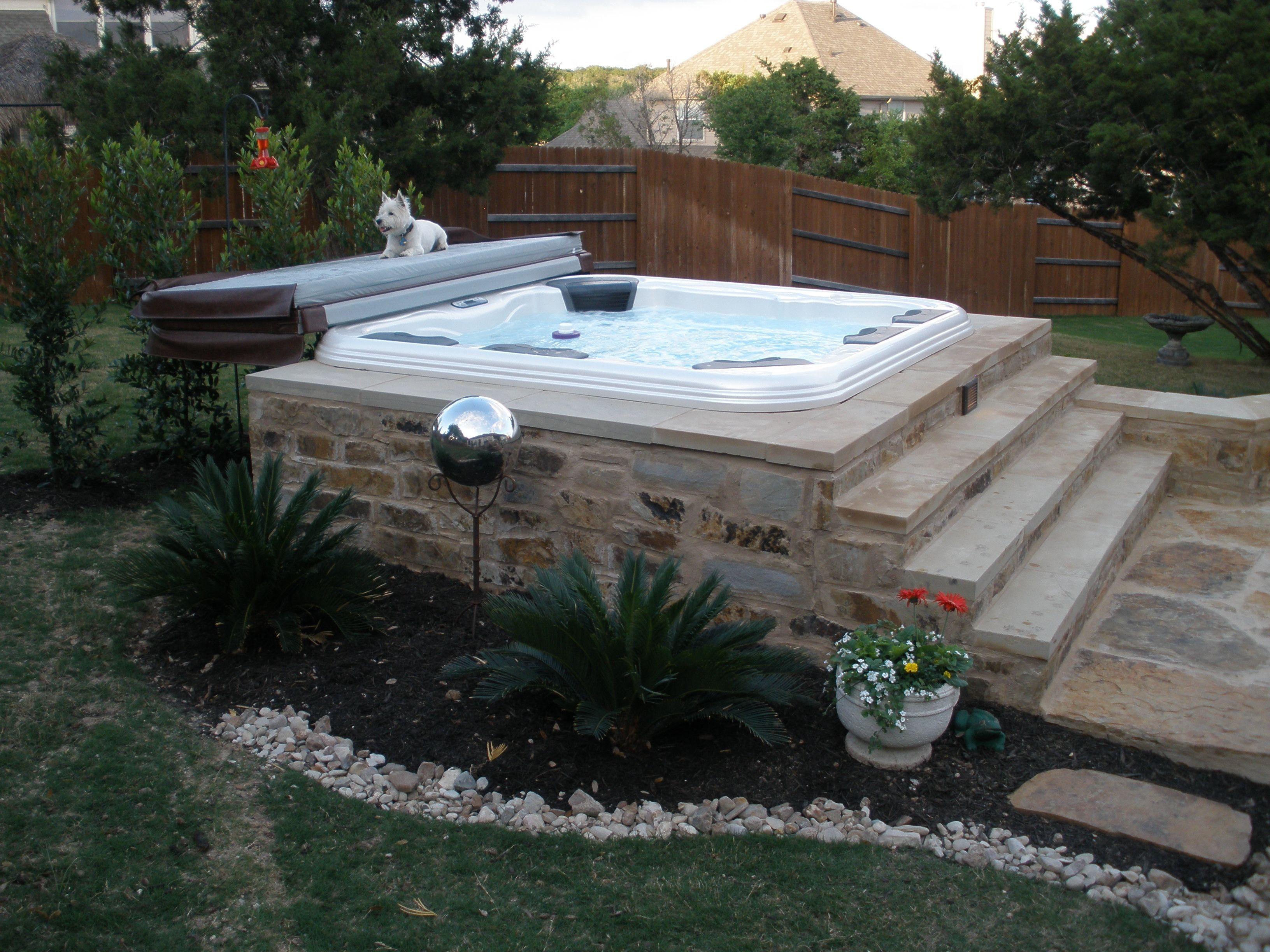 Pretty Salt Water Hot Tub Inspiration For Home Relaxation Spa Jacuzzi Https Www Divesanddollar Com Sal Hot Tub Backyard Hot Tub Landscaping Hot Tub Outdoor