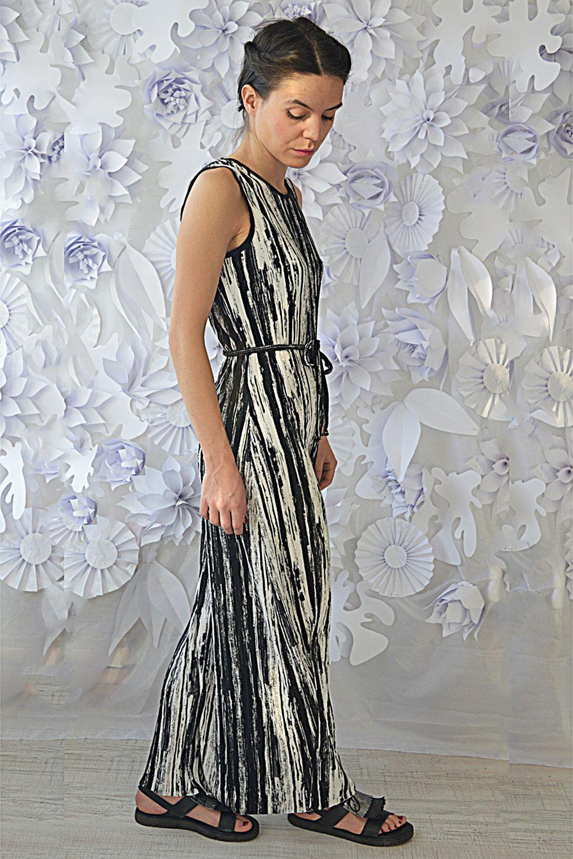 Summer dresssemi formal bodycon dressblack and white sleeveless