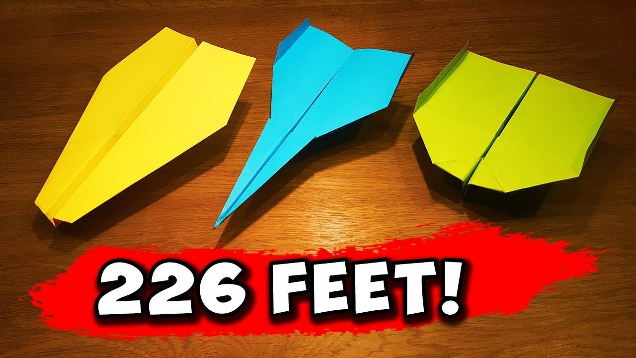How To Make 5 Easy Paper Airplanes That Fly Far Youtube Make A