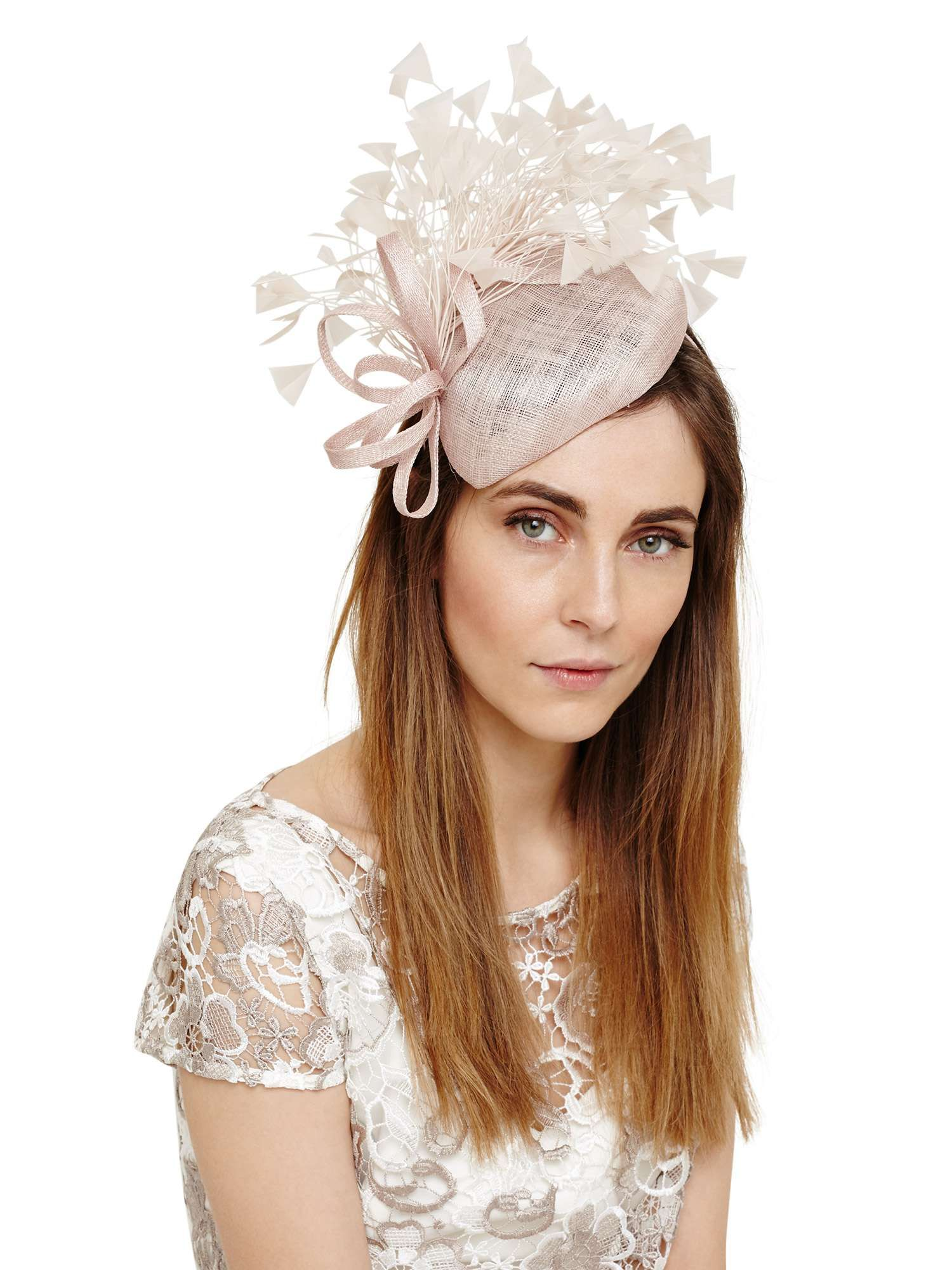 phase eight audrina feather pillbox fascinator - house of