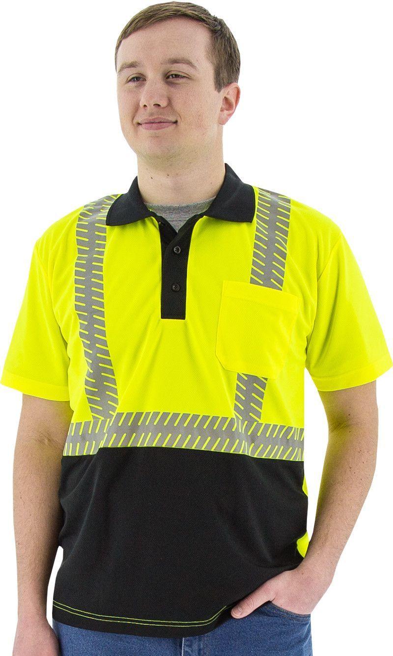 Safety Shirt Majestic 755213 Hi Vis CL2 Safety Polo