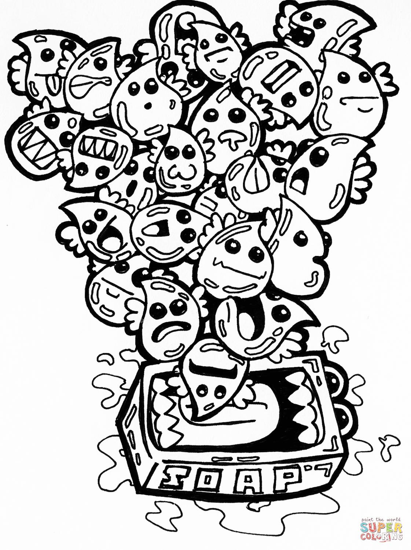 Burbujas de Jabón en Doodle Dibujo para colorear. Categorías: Arte ...