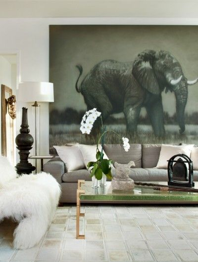 Elephant In The Room Living Room Design Inspiration African Home Decor Home Decor Inspiration Elephant decor for living room