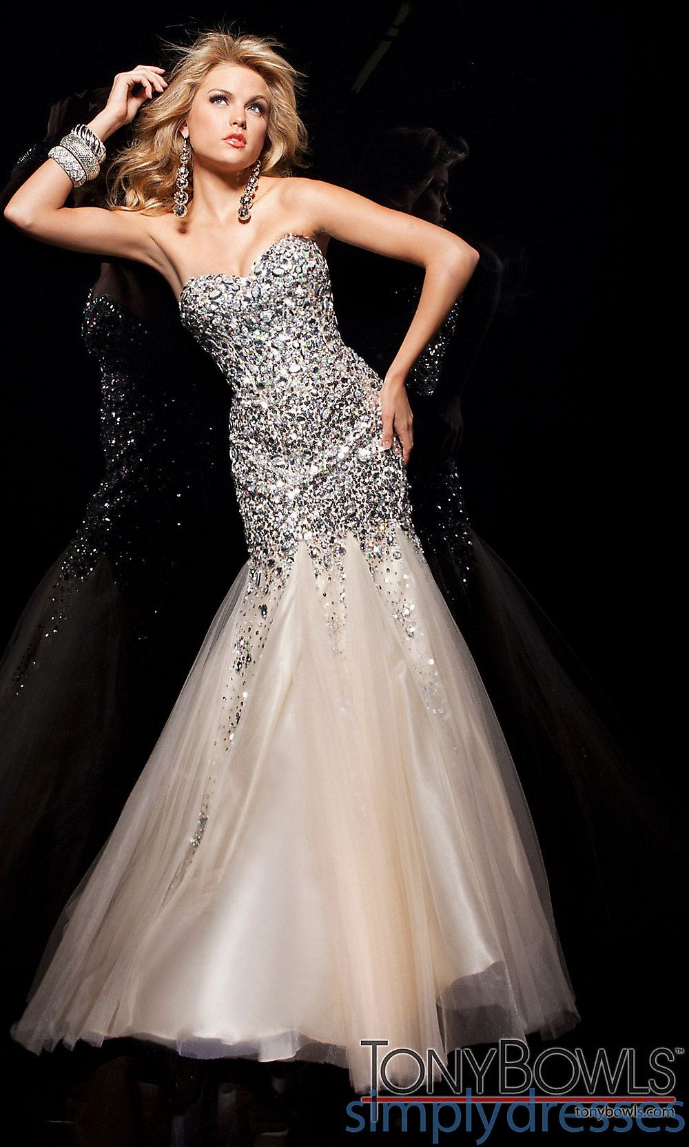 Gold Sequin Mermaid Gown By Tony Bowls Champagne Prom Dress Mermaid Prom Dresses Mermaid Prom Dresses [ 1665 x 1000 Pixel ]