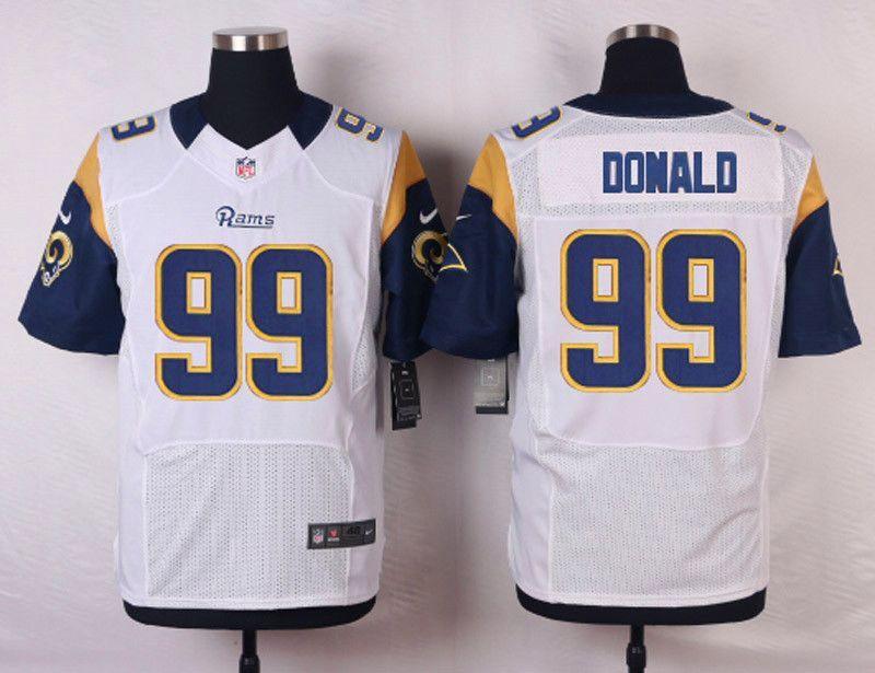 NFL Customize St.Louis Rams 99 Donald White Men Nike Elite Jerseys ... 2690e1f37