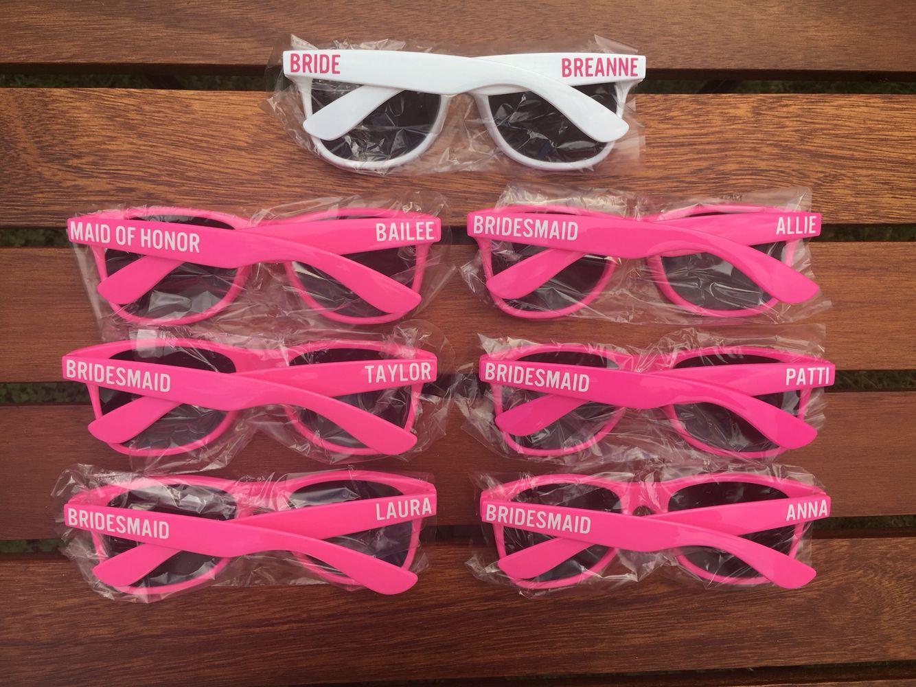 20 ADULT Personalized Sunglasses Custom Wedding Favor Sunglasses
