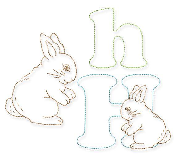 Das H Wie Hase Bernina Blog Hase Osterhasen Basteln Kinder Maschinenstickerei