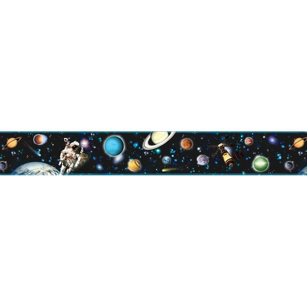 Brewster Kids World Buzz Aldrin Space Wallpaper Border