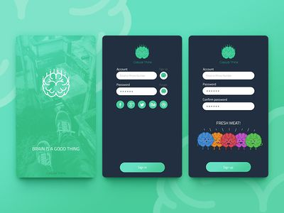 Luxury Login pages Concept Design for Casual Think