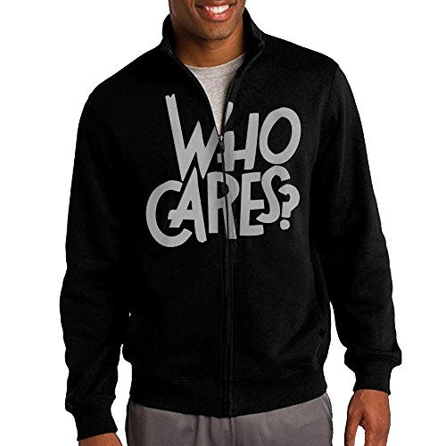 Men WHO CARES Funny Quotes Hoodie Sweatshirt Zipper *** Want additional info? Click on the image.