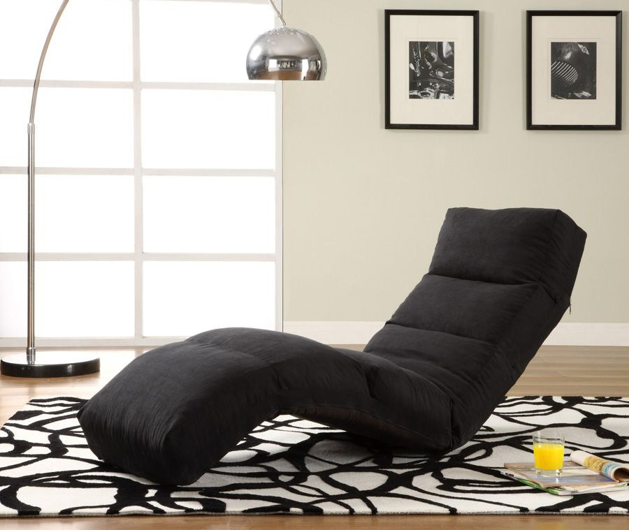 Click Clack Black Jet Sofa Bed Convertible Chair Bed Lounger By Lifestyle170