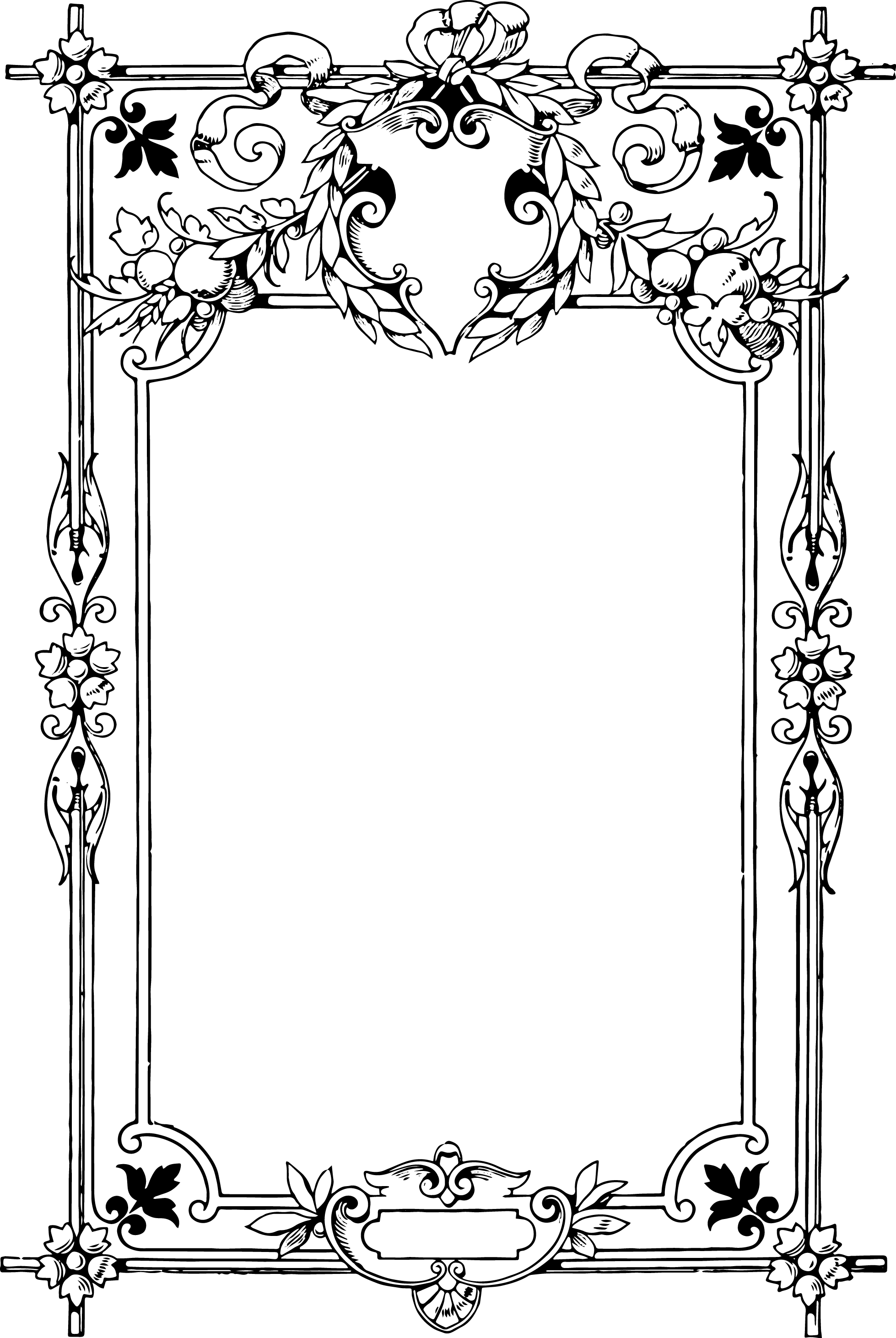 Gorgeous Clip Art Border Frame | Papercrafts | Pinterest | Pawprint ...