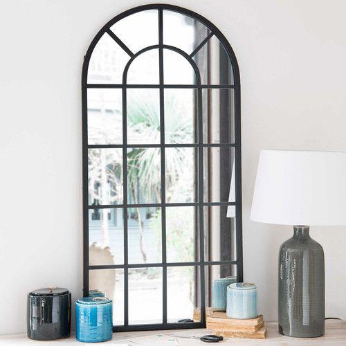 an61 espejo de metal negro volda decoraci n recibidor spiegel venster spiegel y. Black Bedroom Furniture Sets. Home Design Ideas
