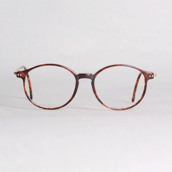 80s ARMANI GLASSES Frames / Thin Tortoise Eyeglasses with ...